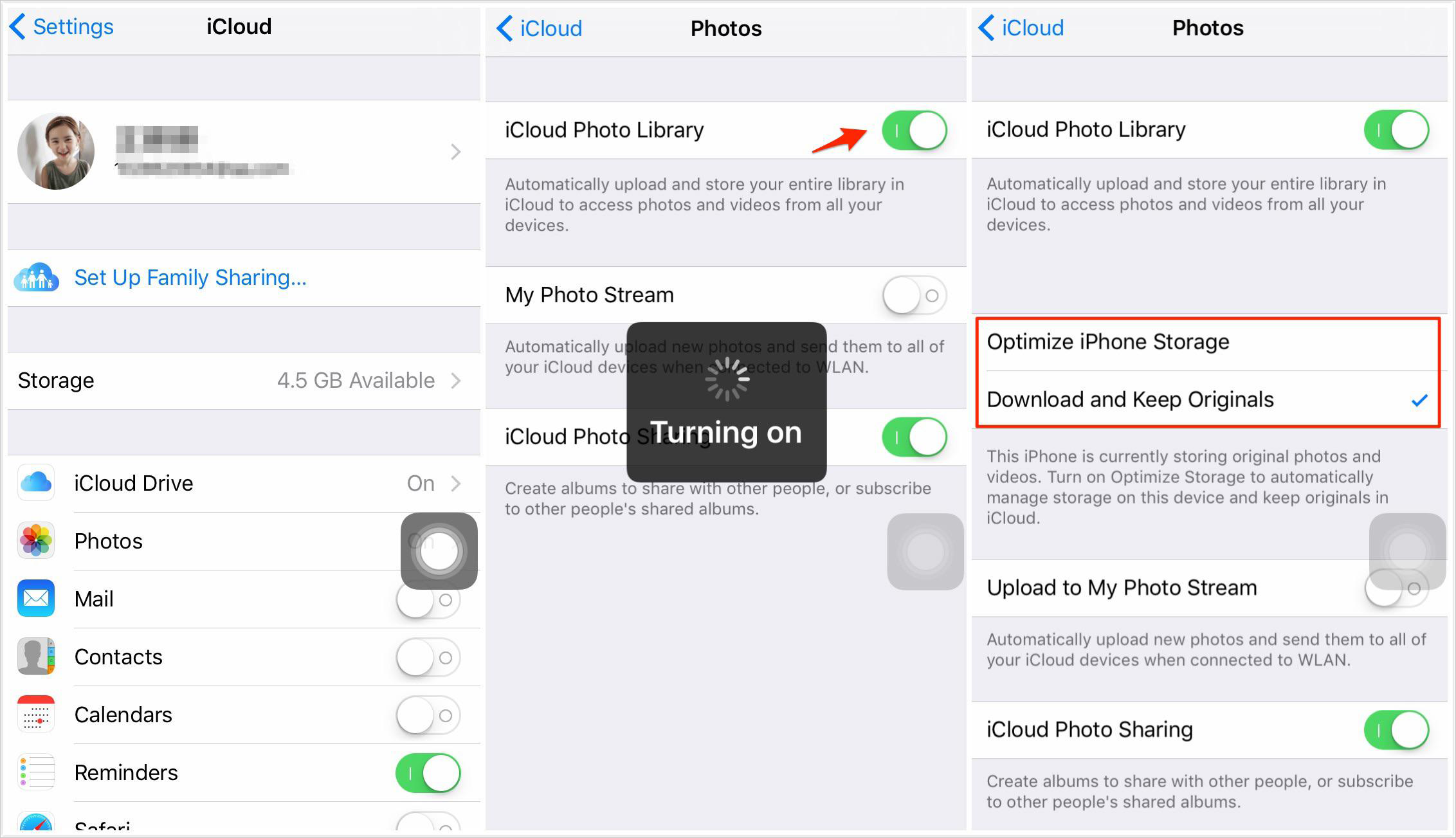 How to upload on iPhone