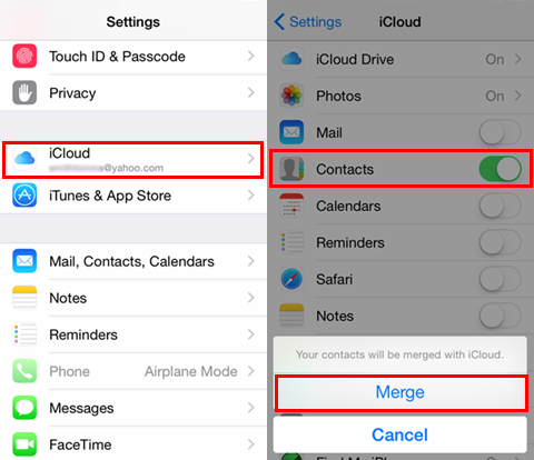 backup my iphone contacts to gmail
