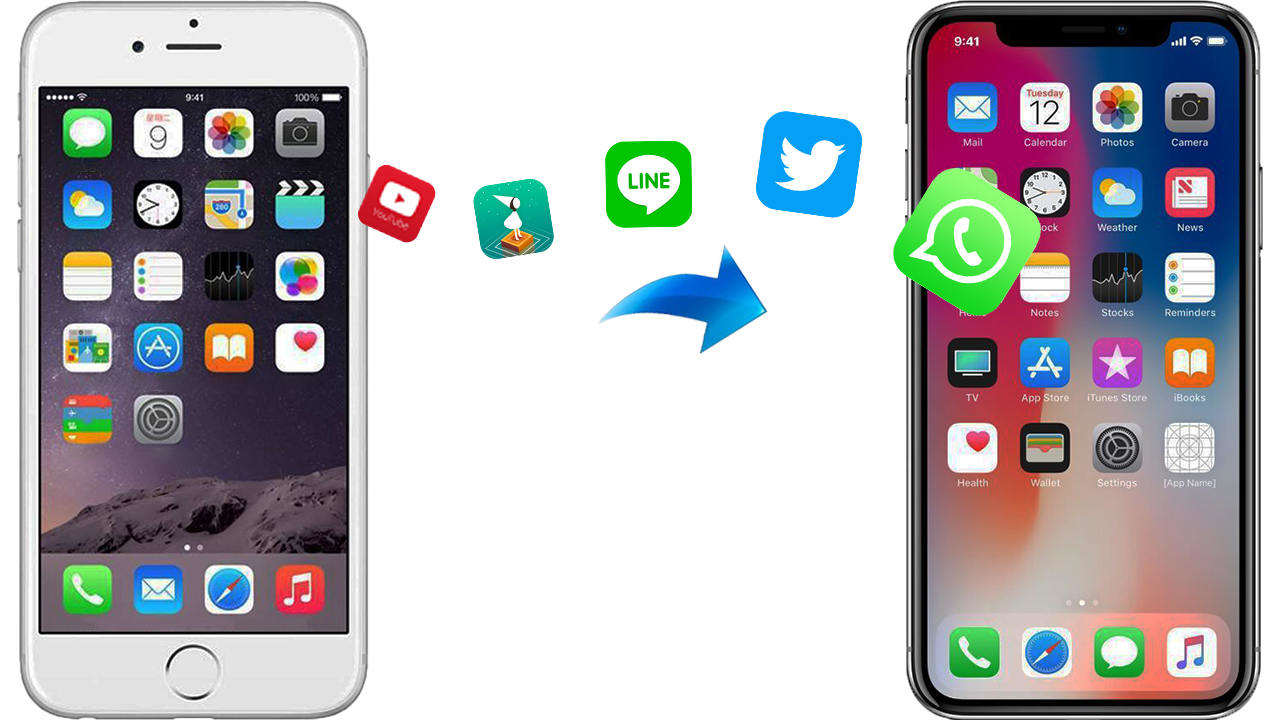 The Easiest Way to Transfer Apps and Data to New iPhone 8/8P/X Directly