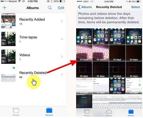 How To Recover Photos Deleted From The Recently Deleted
