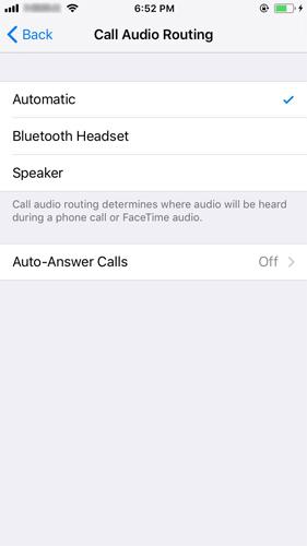 acheminement des appels audio