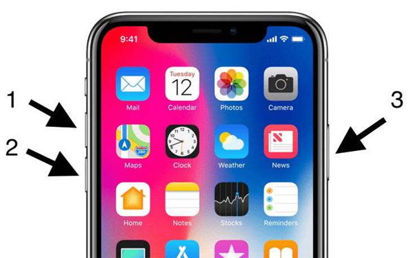 riavviare iphone x