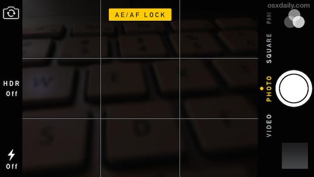 lock exposure camera
