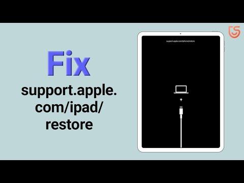 How to Fix support.apple.com/ipad/restore on iPad Air, iPad Pro 2020