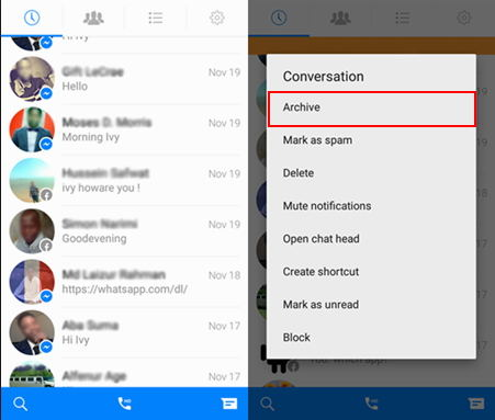 archive messages оn android