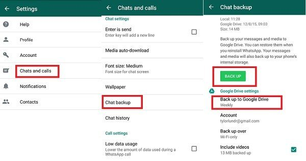 how to restore whatsapp backup on different google drive