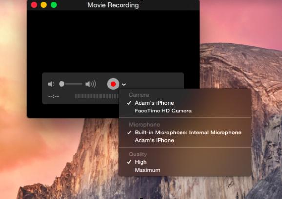 new recording quicktime mac