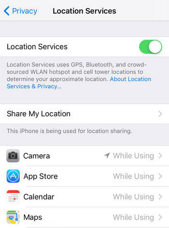 How to turn service off on iphone