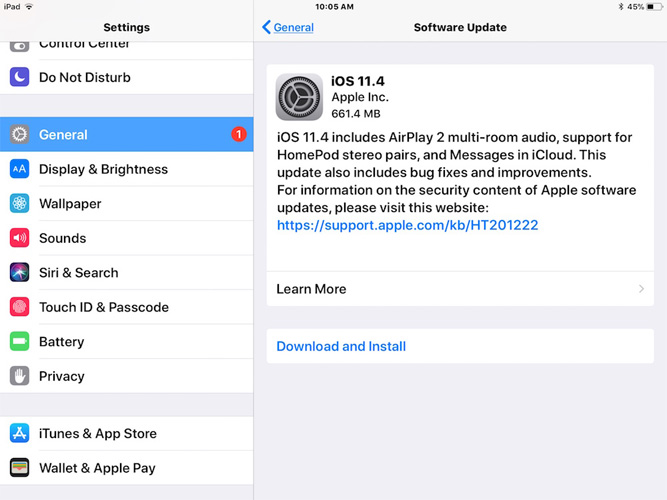 ipad software update