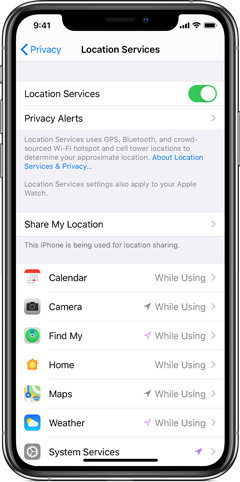 find my friends app location not available – location