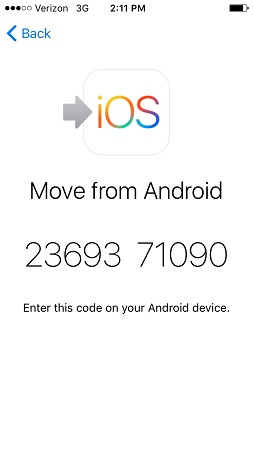 move from android passcode
