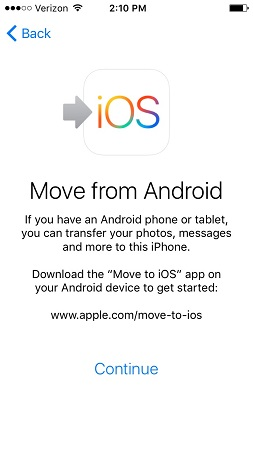 accept move to android