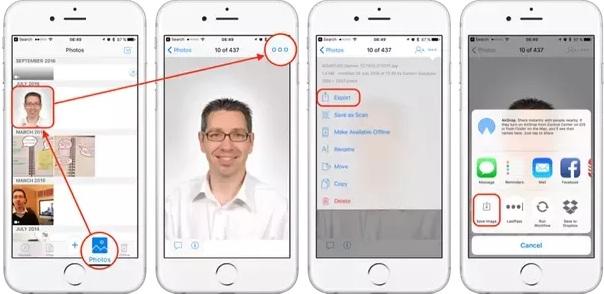 save to iphone dropbox