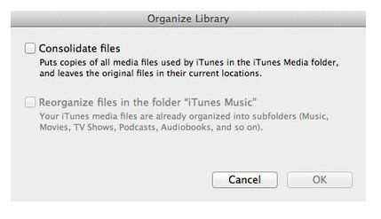 Consolidating itunes library to external hard drive