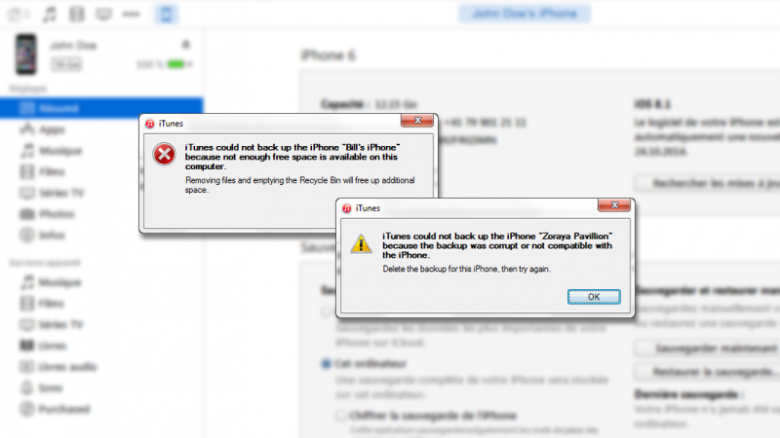 How to Fix iTunes Cannot Backup iPhone Under Windows 10