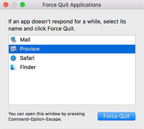force quit menu