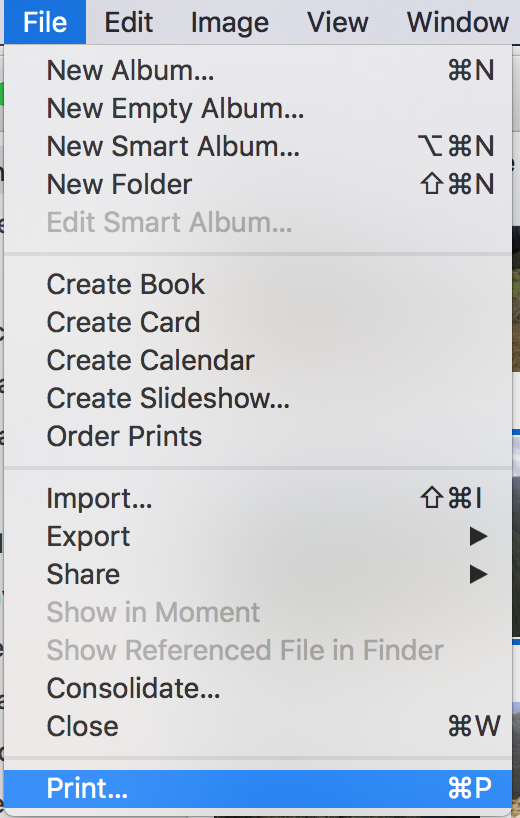 Print Multiple Photos to One Page in Photos for Mac