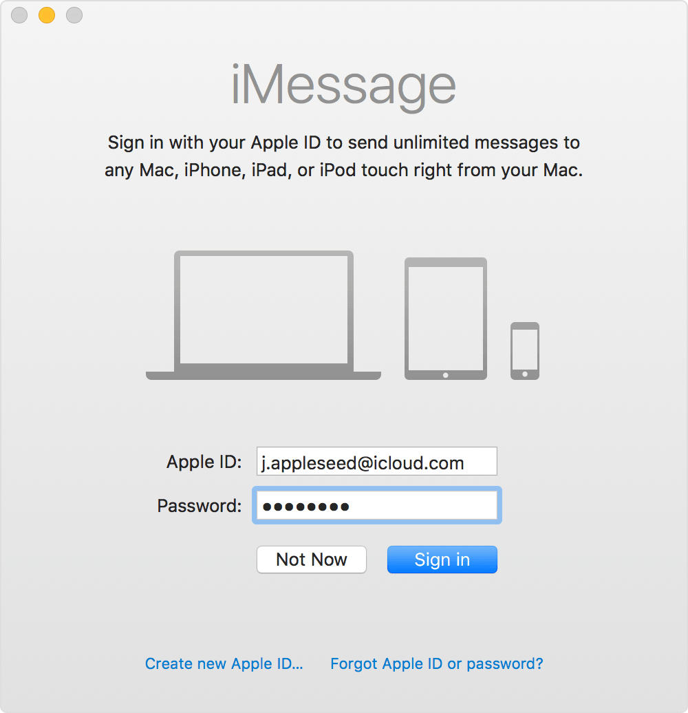 How do i hook up my imessage to my mac