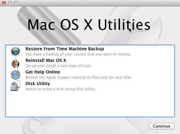 mac recovery mode