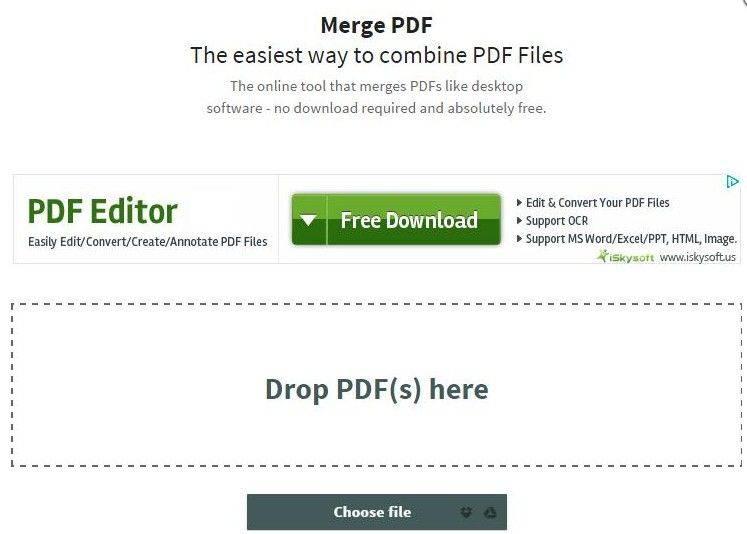 top 8 free pdf files merger tools freeware online service