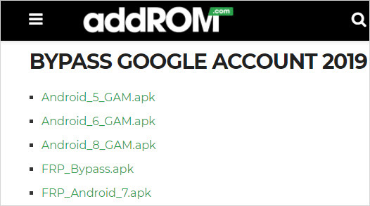 bypass google addrom