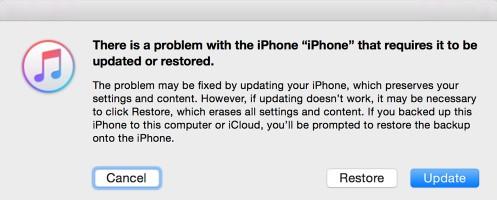 dfu restaurer l'iPhone