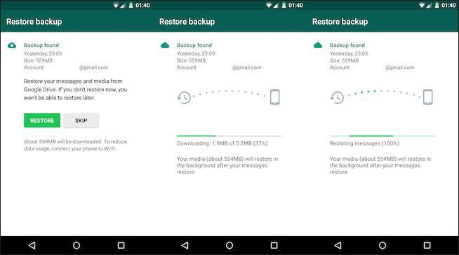 retrieve whatsapp backup from google drive